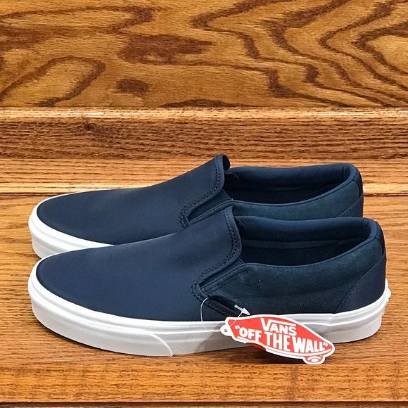 aa5430f9d5 Vans Classic Slip On Surplus Nylon Dress Blue Shoe NWT
